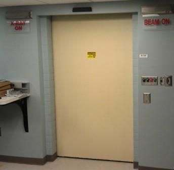 radiation shielded door