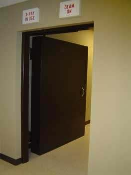 swinging radiation door